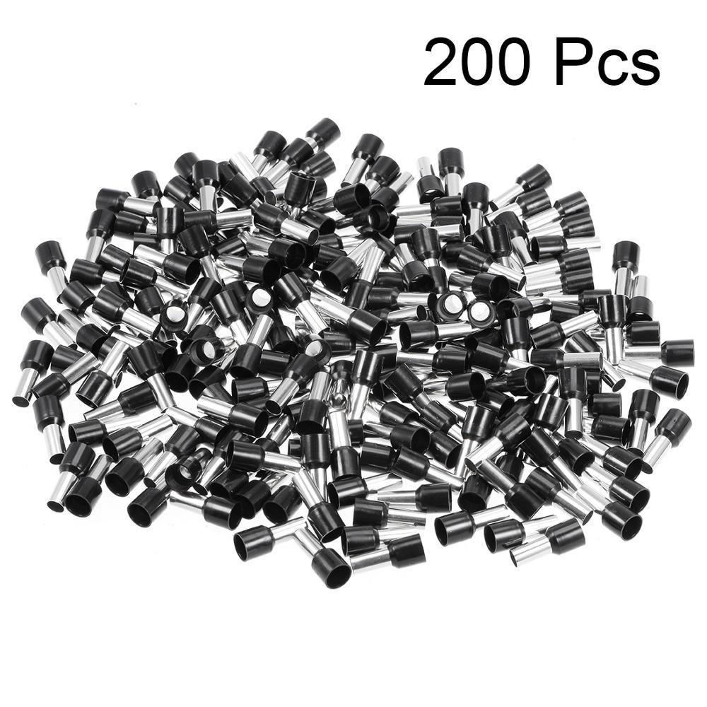 Uxcell 200 шт./лот черный белый Изолированный Шнур концевой разъем провода 5AWG обжимной терминал медный VE16-12/VE16-18