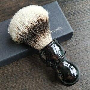 Image 1 - Dscosmetic フックアナグマ毛ゲルヒント 3 ノットシェービングブラシ黒樹脂ハンドル