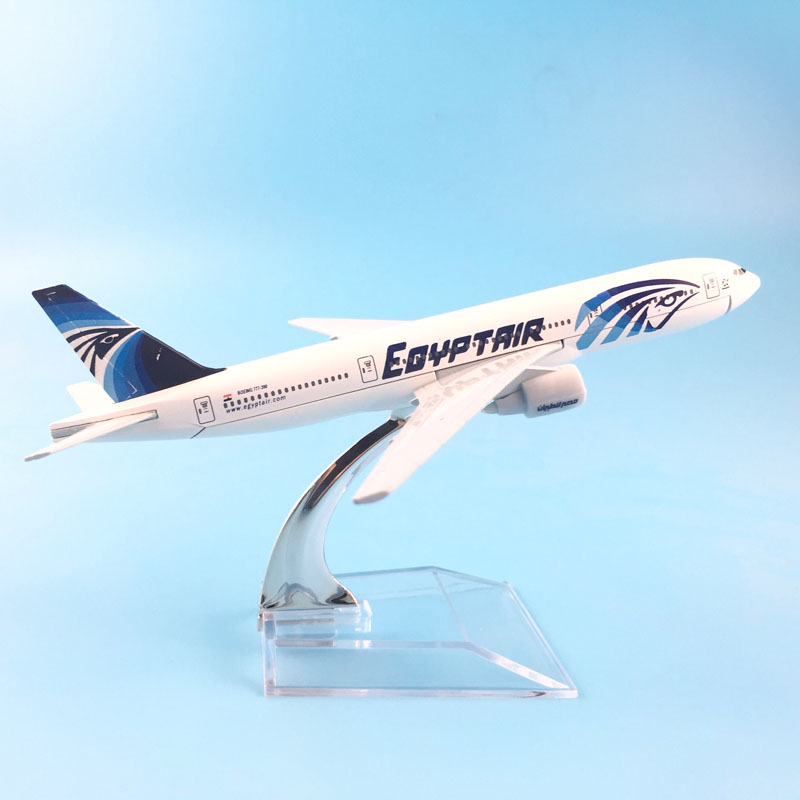 16CM EGYPT AIR 777 METAL ALLOY MODEL PLANE AIRCRAFT MODEL TOY AIRPLANE BIRTHDAY GIFT image