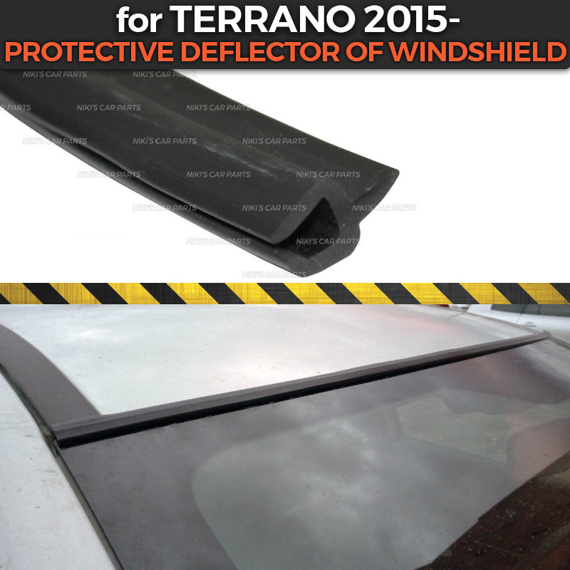 Protective Deflector Case For Nissan Terrano 2015- Of Windshield Rubber Protection Aerodynamic Car Styling Cover Pad Accessories