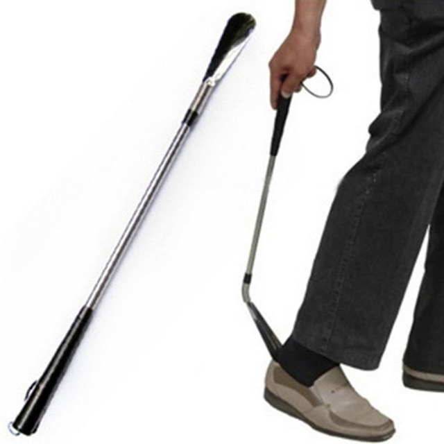 027070feab9 60 cm Ultra Long stainless steel Shoe Horn Lifter Professional Long Handle  Shoe Horn Lifter Shoehorn Can dropingshiping