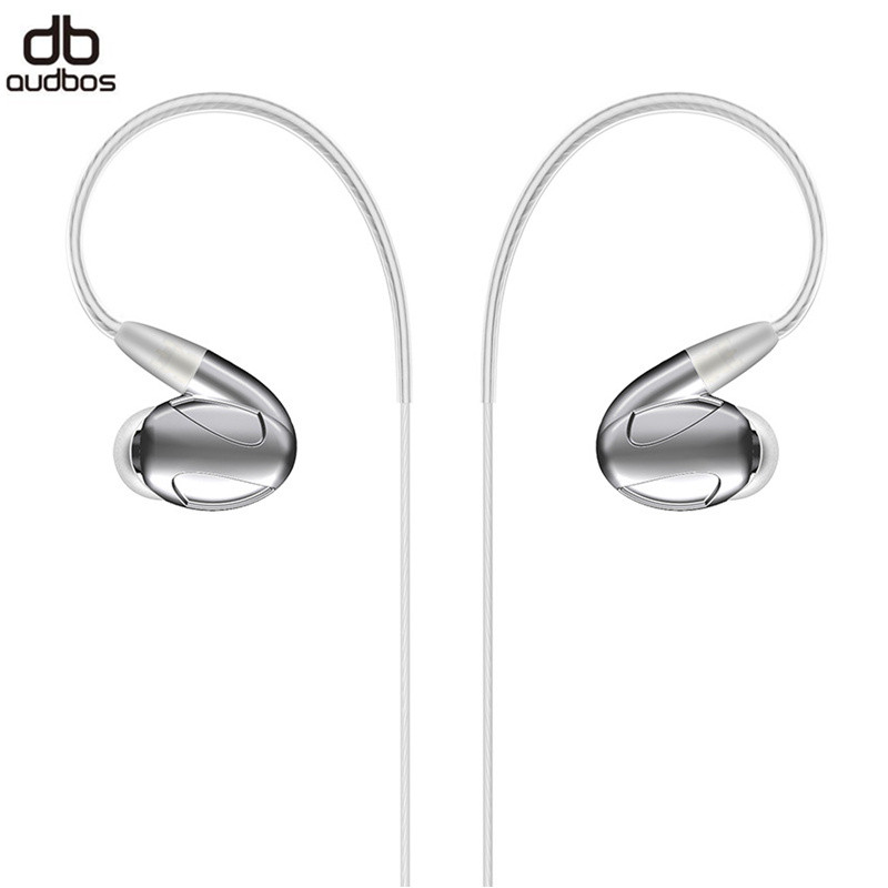 Audbos DB04 Wired Earphone 2 Balanced armature+2 Dynamic Hybrid Earphone HiFi Sport Metal Earphone In Ear Earphone audbos db04 hifi hybrid earphone 2ba 2dd silver plated metal earphone monitor earphone audiophile iem music earbuds