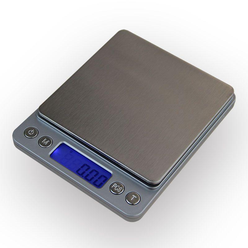 500g x 0.01g Digital Kitchen Gioielli Bilancia Portatile Mini Elettronica Peso di Equilibrio Della Tasca Della Cassa Postale Bilancia 0.01g con 2 Vassoio