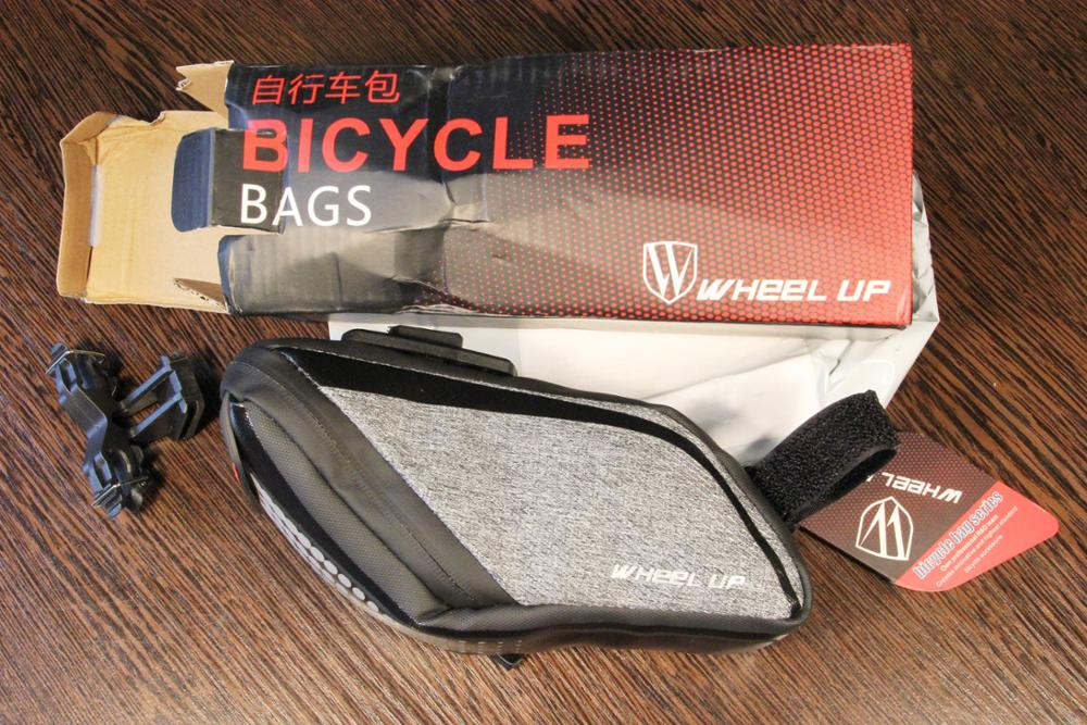 Wheel Up Bicycle Rear Bag 3D Shell Rainproof Reflective Shockproof Cycling Bag Bike Seatpost Bag