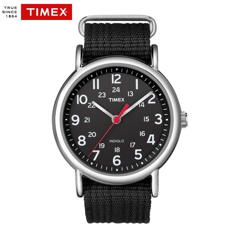 Timex  Men's Watches Weekender Slip Thru T2N647 Quartz Waterproof Nylon Casula Men Watches timex t5k801