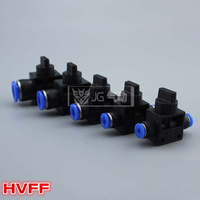 HVFF6 Pneumatic Flow Control Valve;Hose to Hose Connector;6mm Tube* 6mm Tube;100Pcs/Lot; Free Shipping;All size available