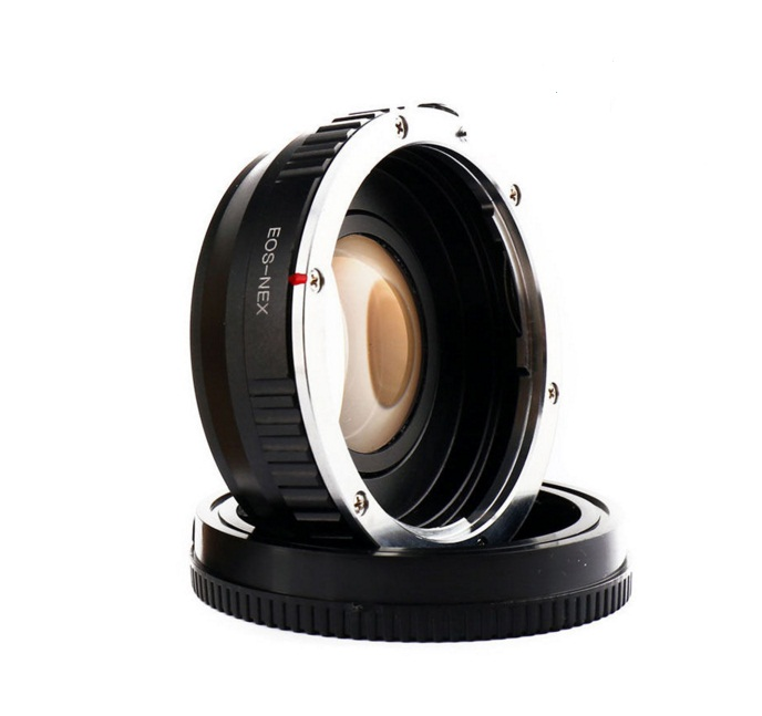 Amopofo EF-NEX Focal Reducer Speed Booster Adapter For Canon EF mount Lens to for Sony NEX E A6000 A5000
