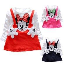 3b8b76a3f8fd New 2018 Summer Cotton Baby Girls Cartoon Dress Children s Clothing Kids  Princess Dresses Casual Clothes 0
