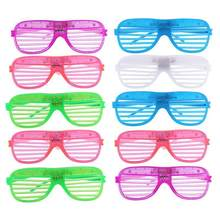3ba38002d0ca98 12 paar Plastic Shutter Shades Grid LED Bril Eyewear Halloween Club Party  Cosplay Props (Willekeurige Kleur)