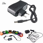 Zebra EU Plug AC 110-240V DC 9V 1A Electric Guitar Stompbox Power Supply Adapter For Guitar Effect Pedal Board