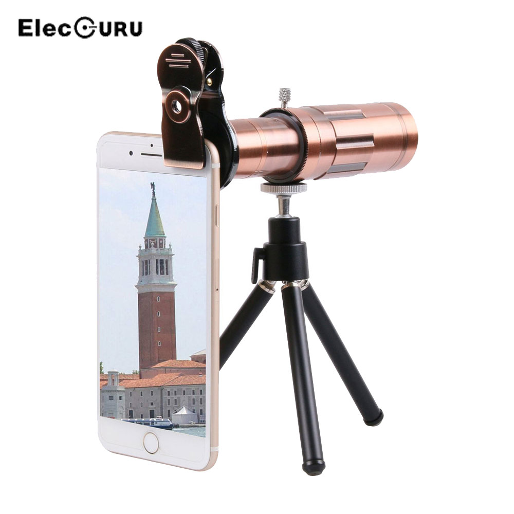 Phone Lens 20X Zoom Telephoto Lens with Universal Clip and Mini Flexible Tripod for Huawei Xiaomi iPhone Samsung Smartphones