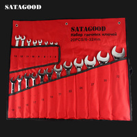 SATAGOOD screwdriver set 20 in 1 organizers 6 32 mm precision torx screw driver Bits Repair set of tools auto repair tool