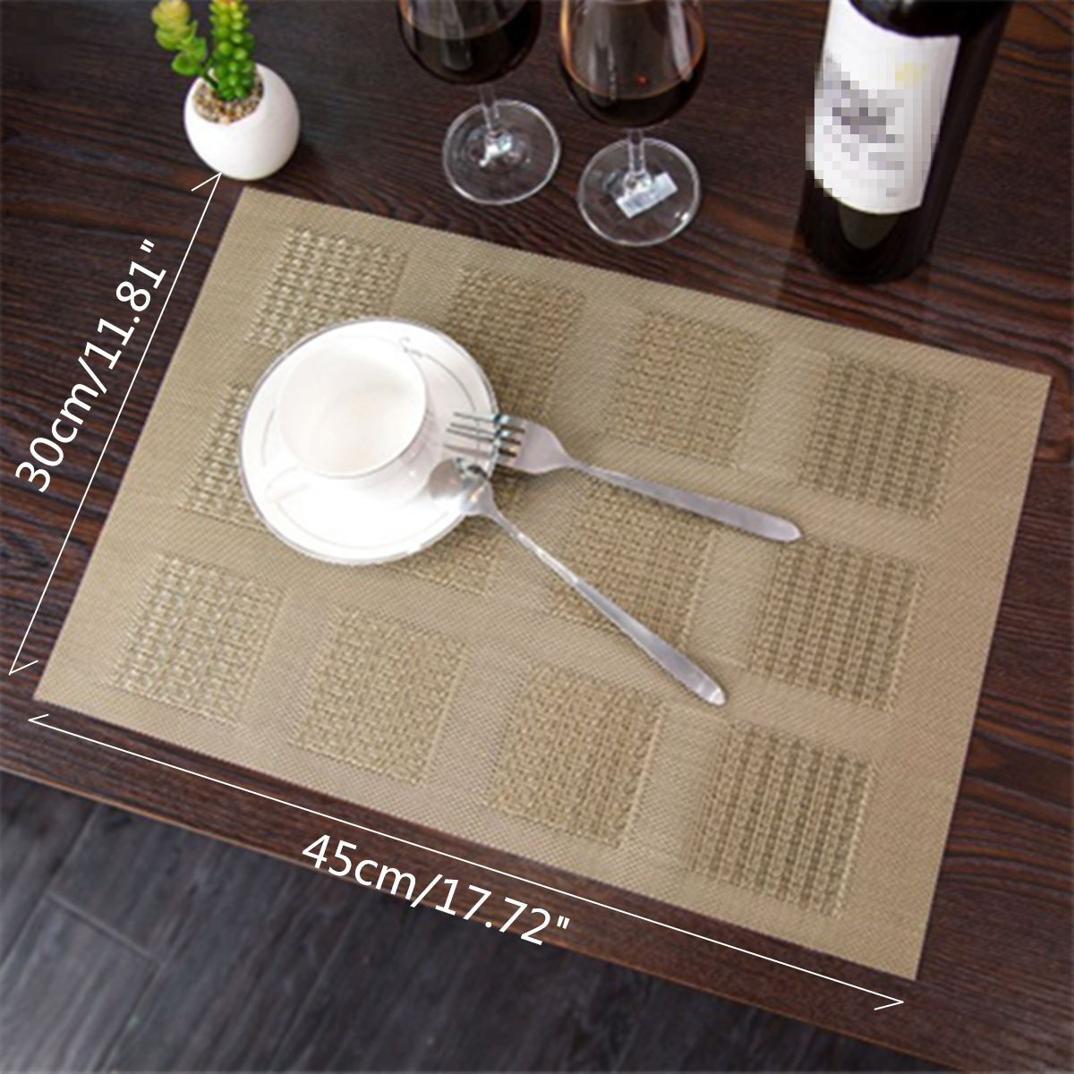 Rectangular Insulation Tablemat Heat Resistant Dining Table Mat Pad  Waterproof Pvc Placemat Kitchen Table Decoration Tableware