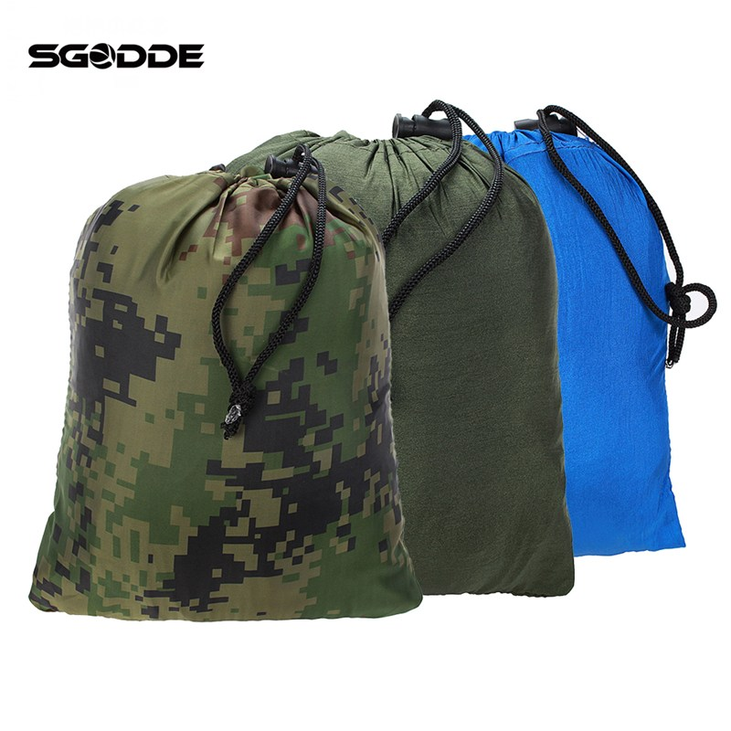 SGODDE Portable Folded 200kg Maximum Load Travel Jungle Camping Outdoor Hammock Hanging Nylon Bed + Mosquito Net 2017 portable nylon garden outdoor camping travel furniture mesh hammock swing sleeping bed nylon hang mesh net