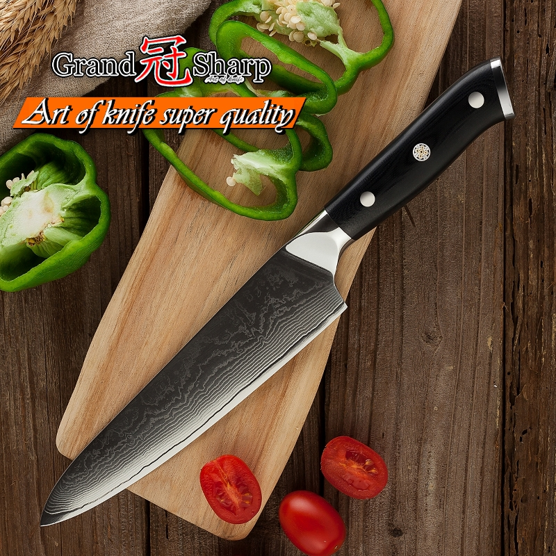 GRANDSHARP 8 Inch Professional Chef Knife 67 Layers Japanese Damascus Stainless Steel VG 10 Core Kitchen