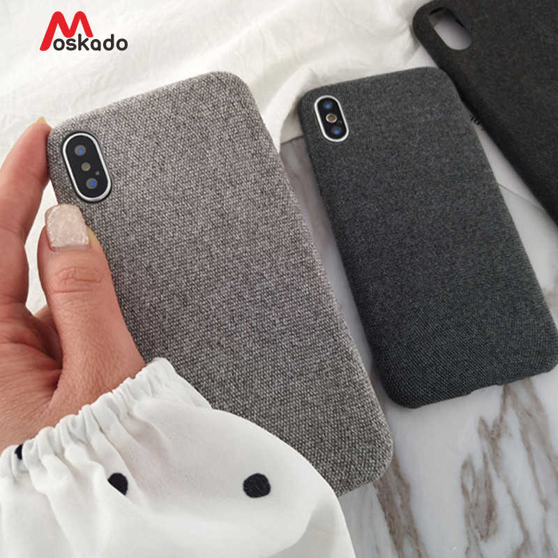 Moskado Plush Fabrics Phone Case For Apple iPhone X XS Max XR 8 7 6s 6 Plus Warm Plush Fashion Soft Color Back Cover Cases Capa