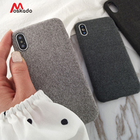 Moskado Plush Fabrics Phone Case For Apple iPhone X XS Max XR 8 7 6s 6 Plus Warm Plush Fashion Soft Color Back Cover Cases Capa
