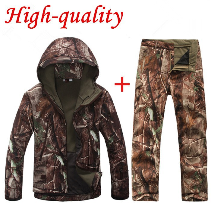 Lurker Shark Skin Softshell V5 Military Tactical Jacket Men Waterproof Coat Camouflage Hooded Army Camo Clothing And