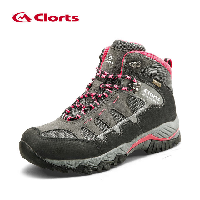 Clorts Hiking Boots Women Waterproof Winter Sneakers Women's Winter Sport Boots Leather Large Size Hiking Shoes HKM-823
