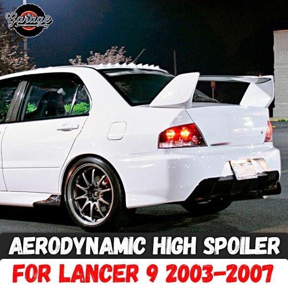 空力高三菱ランサー 9 2003 2007 ABS プラスチックスポーツスタイリング車のチューニング空力翼アクセサリー  グループ上の 自動車 &バイク からの クロムスタイリング の中 1
