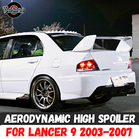 Aerodynamic high spoiler for Mitsubishi Lancer 9 2003-2007 ABS plastic sport styling car tuning aerodynamic wing accessories