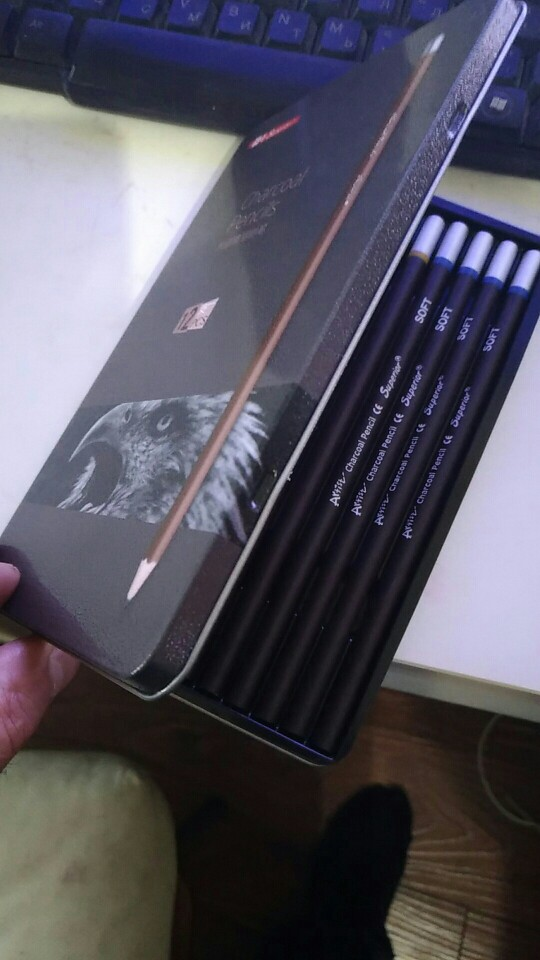 Charcoal Pencil Set 12Pcs photo review