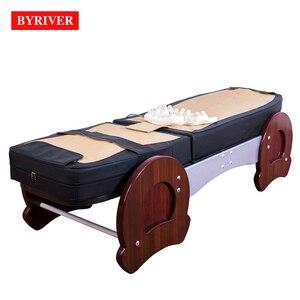 Image 4 - BYRIVER cama de masaje de terapia 3D, rodillo de Jade 9 + 4, función de reducción de inclinación de espalda