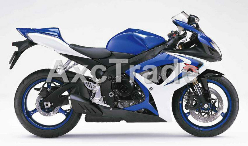 Motorcycle Fairings For Suzuki GSXR GSX-R 600 750 GSXR600 GSXR750 2006 2007 K6 06 07 ABS Plastic Injection Fairing Bodywork BU W injection mold fairing 2006 2007 for suzuki gsx r 600 750 k6 k7 plastic bike bodywork red frame free brand logo decal