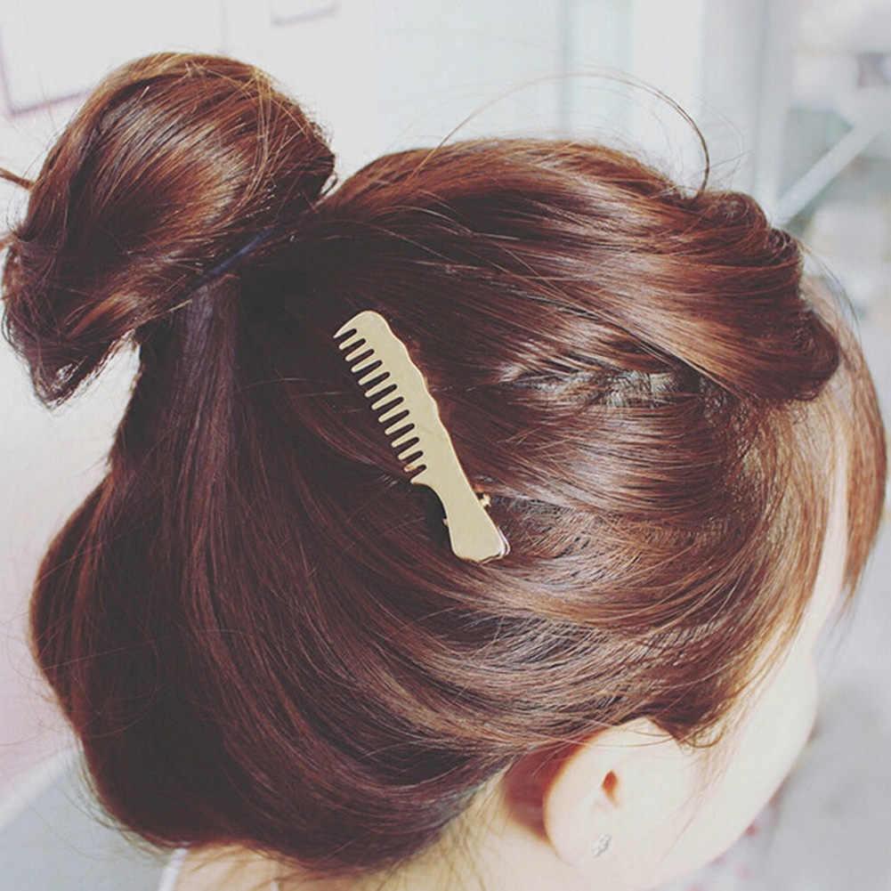Новинка 2017 года Украшения для волос цвета: золотистый, Серебристый покрытием гребень для волос в форме Заколки для волос для Для женщин ювелирные Интимные аксессуары pinzas де Pelo
