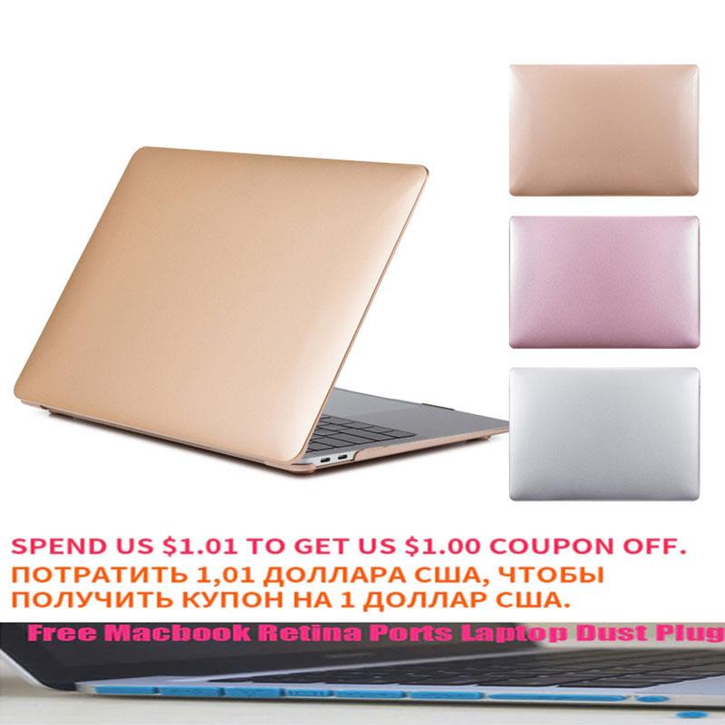 Metal pattern Laptop Case For macbook Macbook Air 13 New 2018 Retina Pro 13 15 with TMacbook Retina Ports Laptop Dust Plug