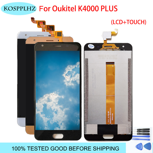LCD Display Touch Screen For oukitel k4000 plus Phone Mobile Assembly With Digitizer Parts Lcds Touch +Tools Replacement k 4000