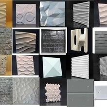 1 шт. 3D пластиковые формы для плиточных панелей плесень штукатурка стены камень стены Искусство Декор ABS пластиковая форма низкая цена до конца года