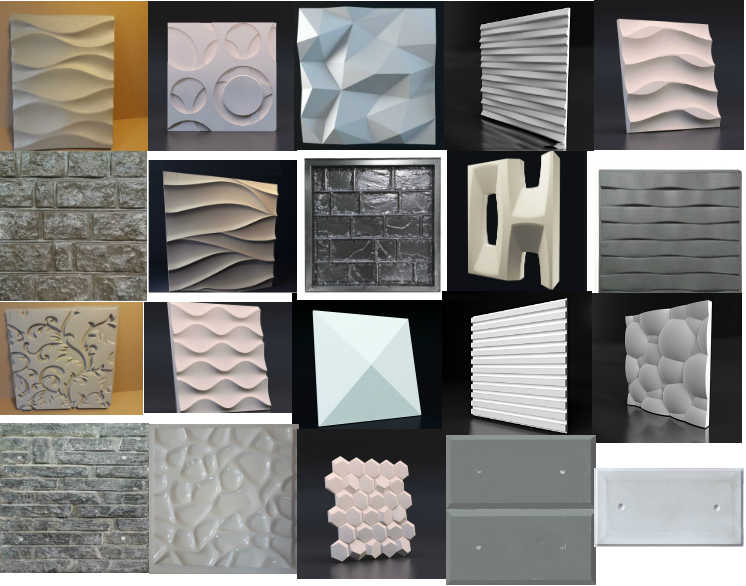 3D Plastic Molds For 3D Tile Panels Mold Plaster Wall Stone Wall Art Decor ABS Plastic Form LOW PRICE UNTIL THE END OF THE YEAR