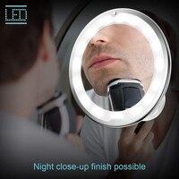 빛 10 x 휴대용 usb 충전식 벽 마운트 데스크탑 링 빛 10 x 뷰티 살롱 가구에 대 한 led 메이크업 거울