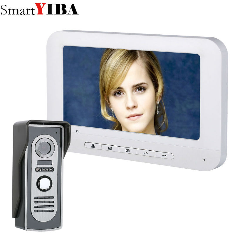 SmartYIBA 7 Color LCD Wired Video Doorbell Door Phone Night Vision 700TVL Camera Visual Intercom Home