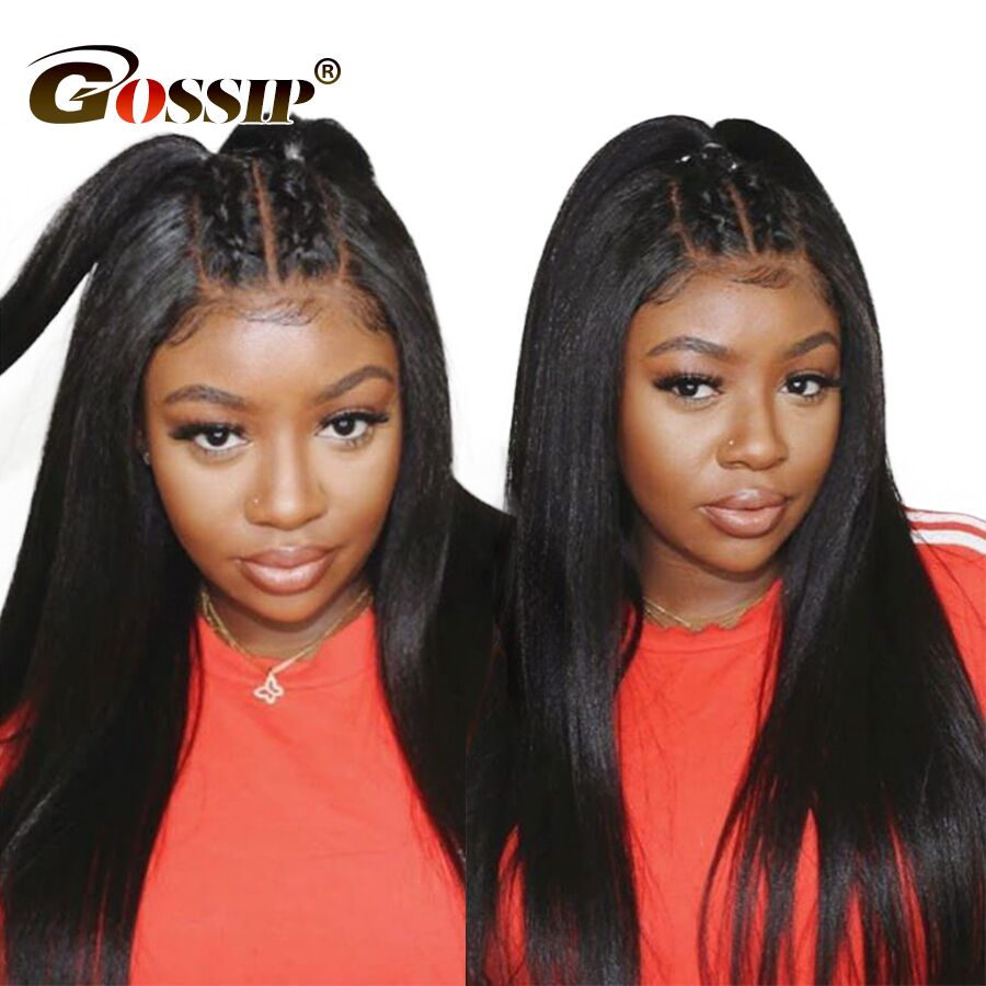 Straight 6 Inch Lace Front Wig Remy 360 Lace Frontal Wig Pre Plucked With Baby Hair