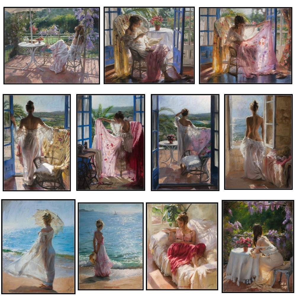 Leisurely Days - Counted Cross Stitch Kits - Handmade Needlework For Embroidery 14 Ct Cross Stitch Sets DMC Color