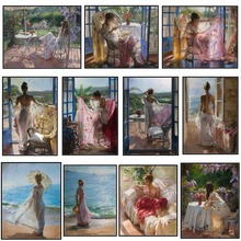 Leisurely Days   Counted Cross Stitch Kits   Handmade Needlework for Embroidery 14 ct Cross Stitch Sets DMC Color