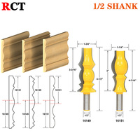 2pc 1 2 Shank Large Reversible Crown Molding 2 Bit Router Bit Set Line Knife Tenon
