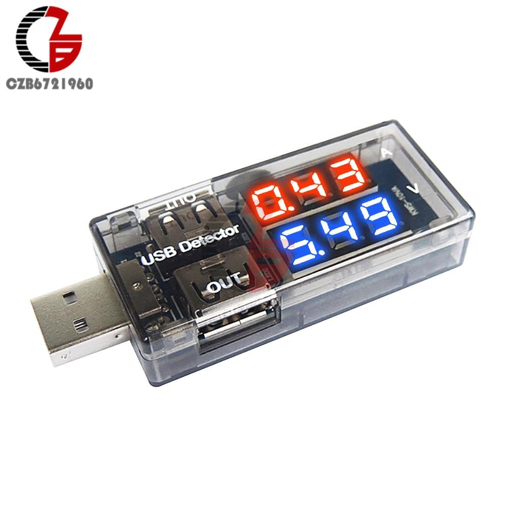 5V 2.5A Dual Output USB Tester Mobile Power Charger Doctor Dual Display LED Digital Voltmeter Ammeter Voltage Current Detector