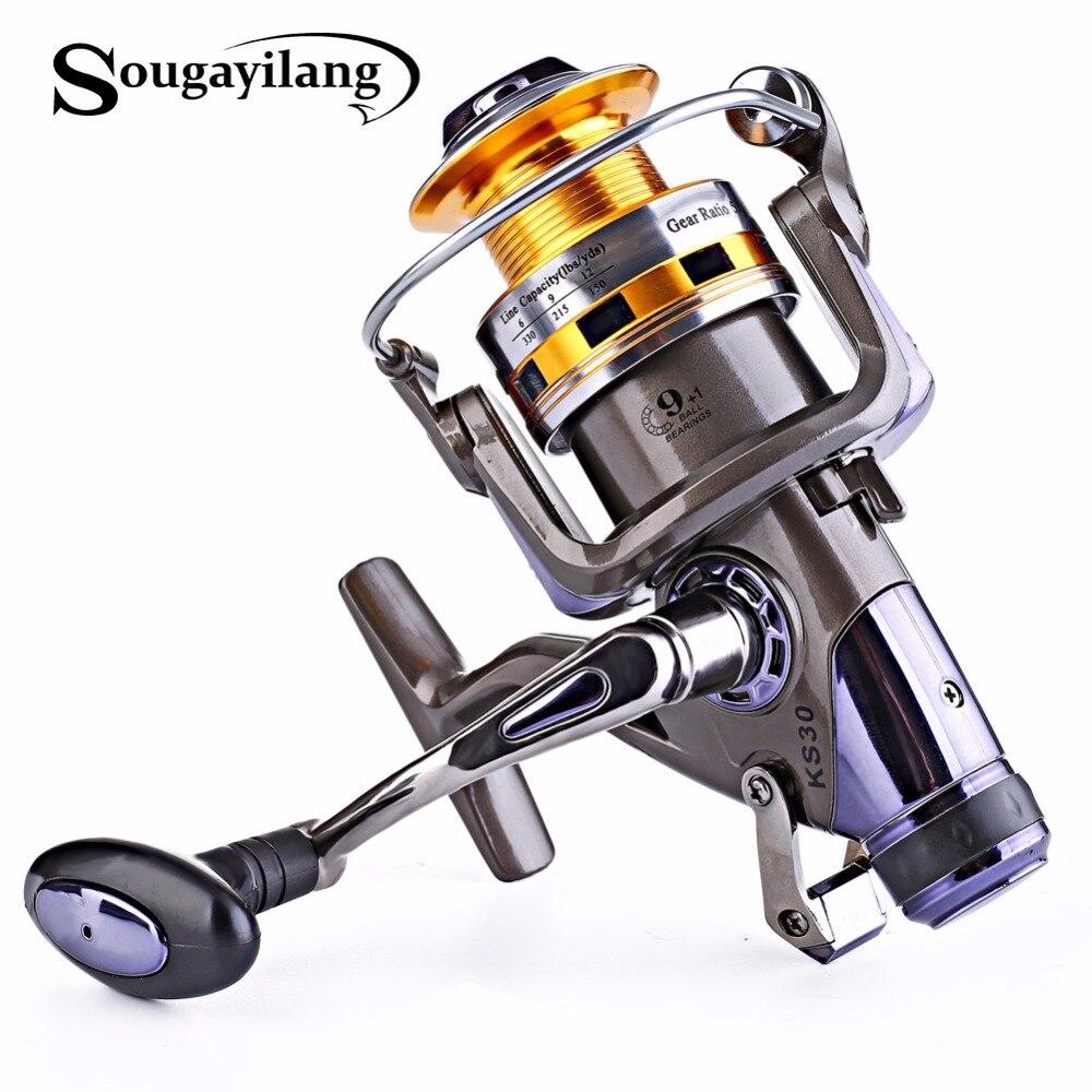 Sougayilang carp spinning fishing reels metal spool 9 1bb for Reel steel fishing