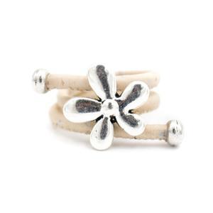 Image 2 - 10 unités de liège naturel et fleur accessoires anneau, Original fait main femmes anneau R 694 MIX 10