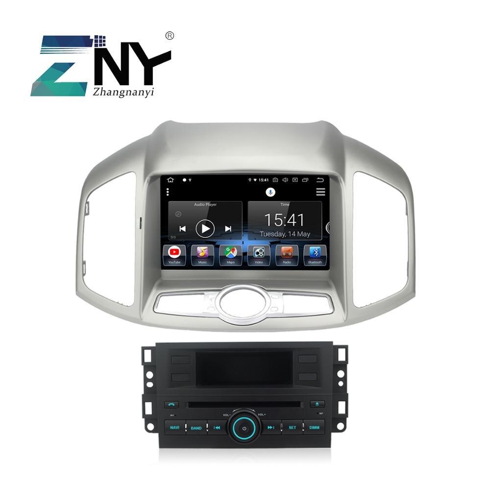 8 IPS Android 9 DVD de Voiture Stéréo Pour Captiva 2011 2012 2013 2014 2015 1 Din Auto Radio Multimédia Wifi GPS Navigation Appareil Photo Cadeau