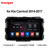 Car DVD Player For KIA Carnival 2014 2018 GPS Radio Stereo 8 inch Android 8.1 Quad core 2G 32G