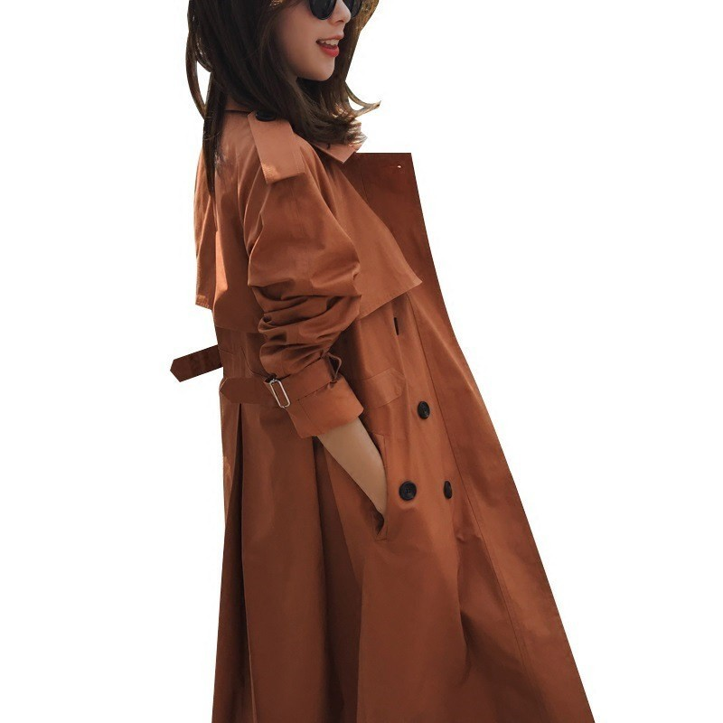 Spring Autumn New Women's Casual Fashion Classic   trench   coat women Double Breasted Office lady Outwear Loose Clothing FY02