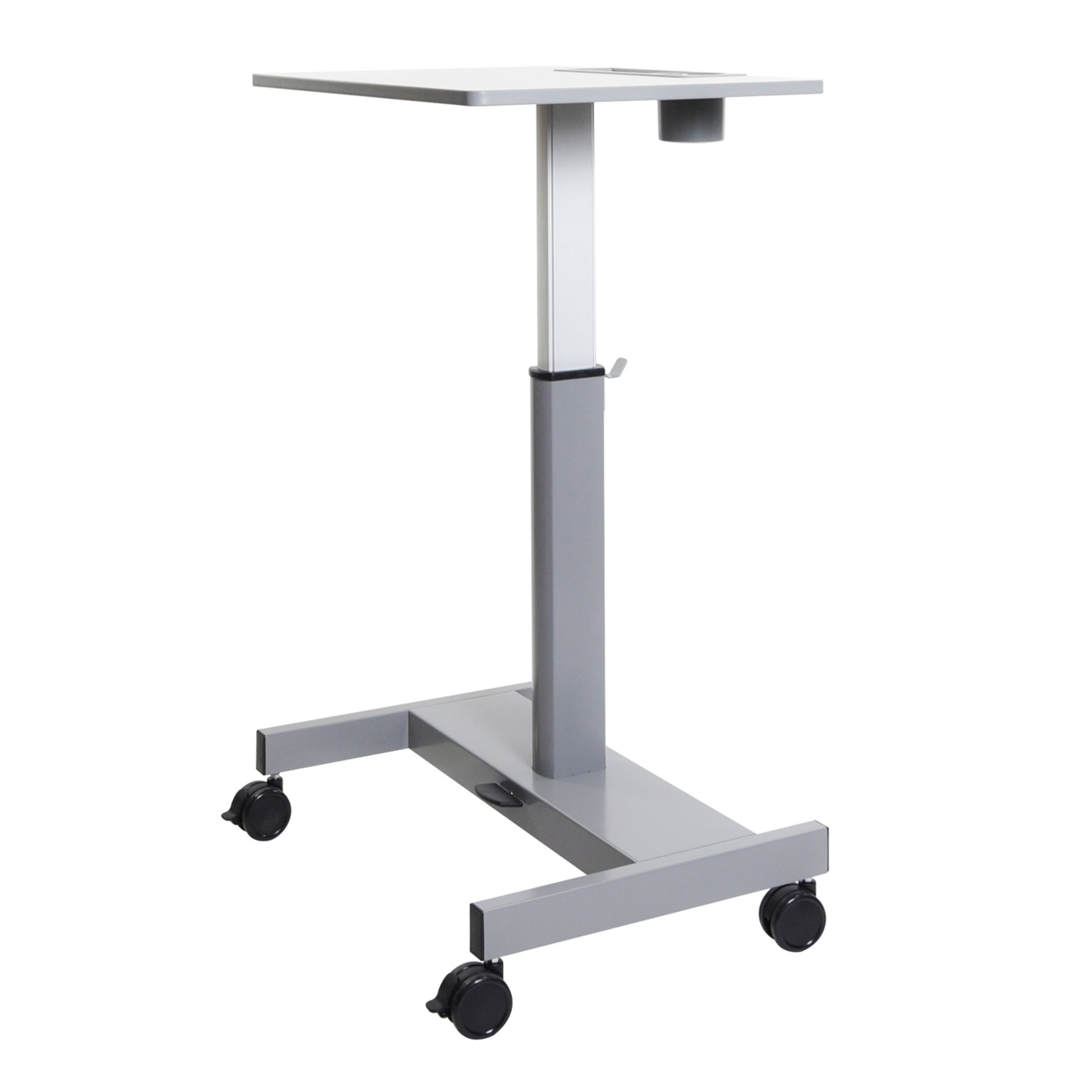 Offex OF-STUDENT-P Student Pneumatic Adjustable Height Sit/StandDesk - Light Gray/Medium Gray