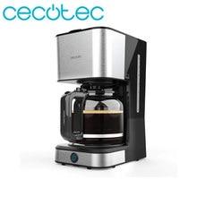 Cecotec café 66 cafetière goutte à goutte de chaleur 950W en acier inoxydable 1,5l capacité 12 tasses de café avec fonction réchauffage et maintien au chaud