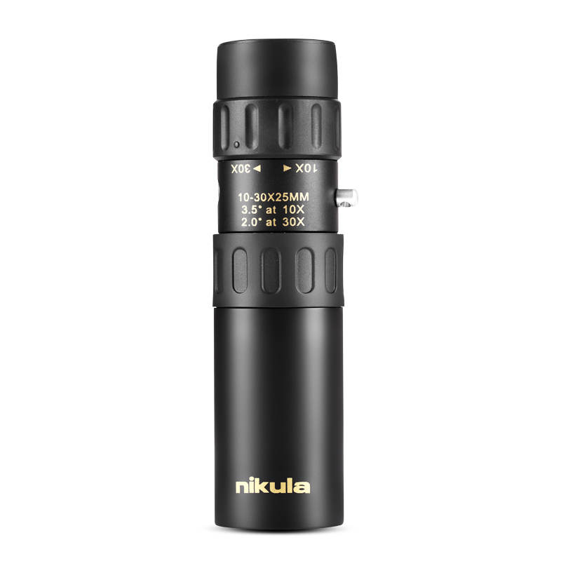 Original binoculars Nikula 10-30x25Zoom Monocular high quality Telescope Pocket Binoculo Hunting Optical Prism Scope no tripod