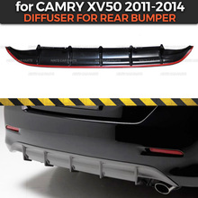 Diffuser case for Toyota Camry XV50 2011 2014 of rear bumper ABS plastic body kit aerodynamic pad decoration car styling tuning