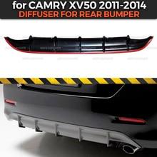 Obudowa dyfuzora do Toyota Camry XV50 2011 2014 tylnego zderzaka ABS plastikowy korpus zestaw aerodynamiczny pad dekoracja car styling tuning